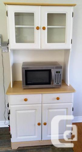 Beautiful Kitchen Hutch & Buffet with Microwave