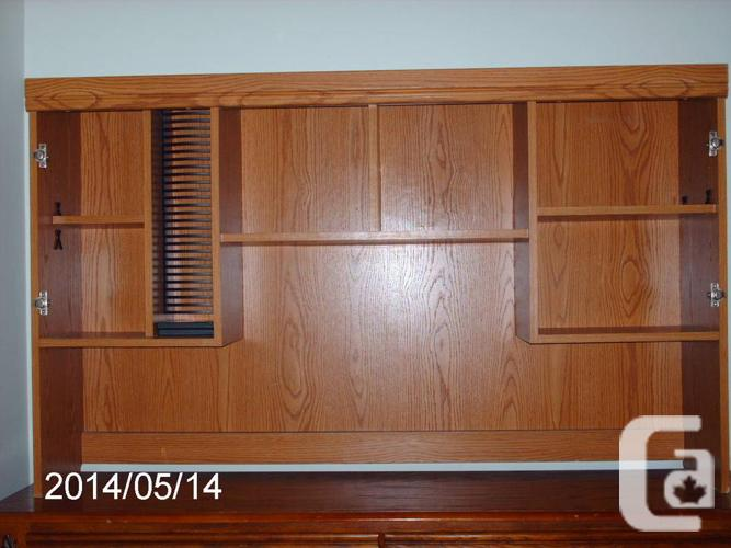 beautiful oak hutch-MAKE ME AN OFFER