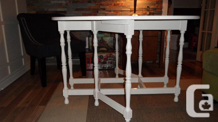 BEAUTIFUL SOLID MAPLE BRIDGE TABLE (PRICE REDUCED)