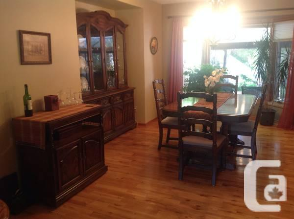 Beautiful solid walnut dining area collection - $800