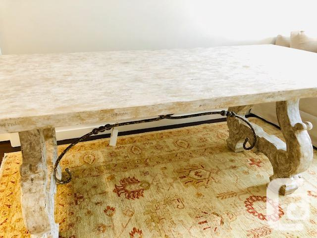 Beautiful white distressed dining room table