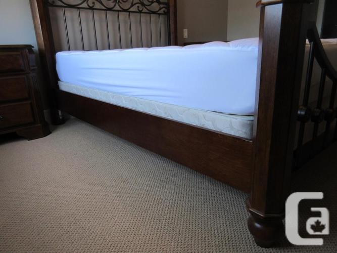 Beautiful Wood & Curved Metal Bedroom Suite