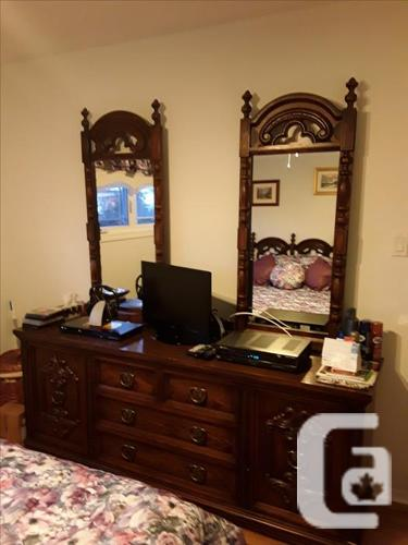 Bedroom set, coffee and end tables, kitchen table + 6