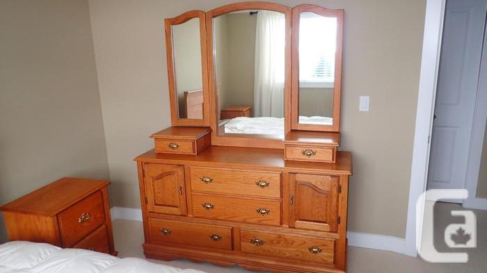 Bedroom Suite, 6 Pieces, Solid Oak