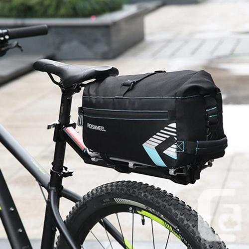 Bicycle Bike Rear Rack Top Bag w/ Shoulder Strap 6L -