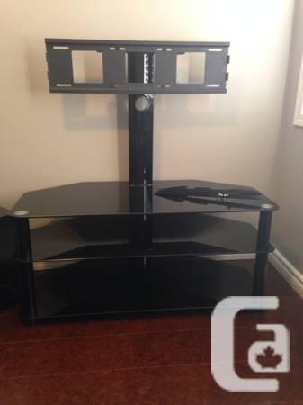 Black Glass TV Stand - $80
