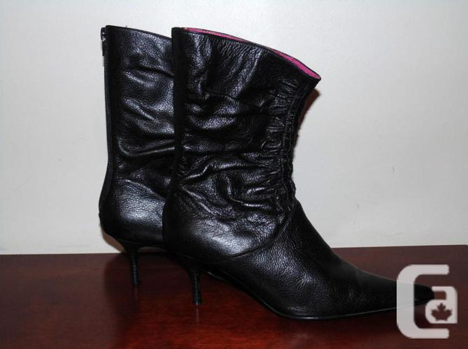 Black Leather Steve Madden Shoes