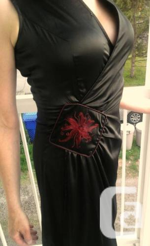 Black Silk Asian Dress