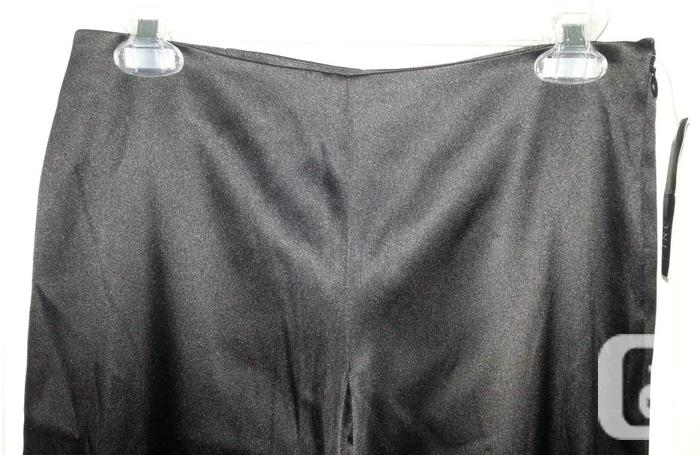 Black Stretch Satin Dress Pants - 6P - NEW