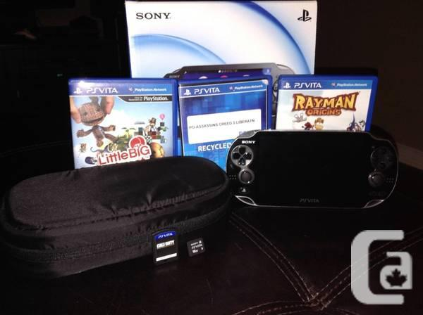Black Vita Budle With 4 Games+16 GB Situation - $250