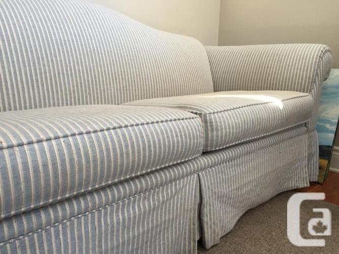 sofa couch for sale. Blue/cream Striped Sklar Peppler Sofa/Couch Sofa Couch For Sale