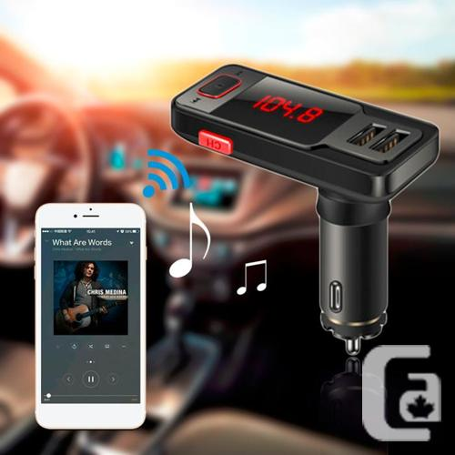 Bluetooth FM Transmitter With Dual USB Car Charger