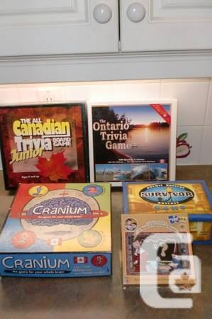 BOARD GAMES AND DVD'S - $3