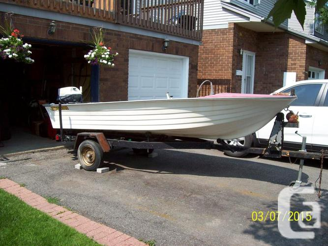 Boat Outboard Motor And Trailer