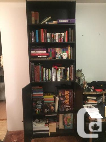Bookshelves and Record Cabinet
