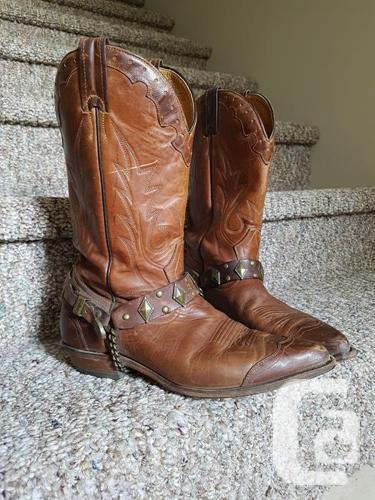 469d6c17ec3 Boulet Cowboy Boots - Fits Men (Size 8) or Women (Size 9-10) for ...