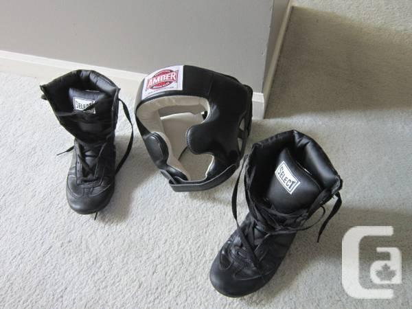 Boxing Headgear and Junior Shoes - $40