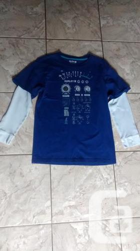 Boys Long Sleeve Blue Hurley Shirt - Size XL (14-16)
