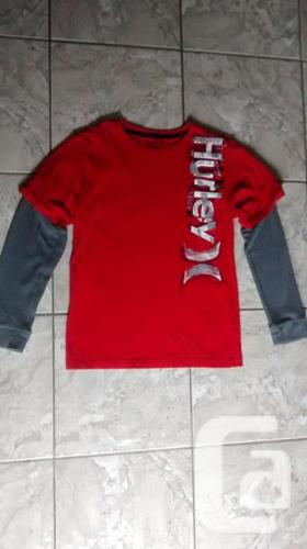 Boys Long Sleeve Red Hurley Shirt - Size Xl (14-16)