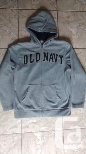 Boys OLD NAVY Gray Fleece Hoodie - Size XL (14-16)