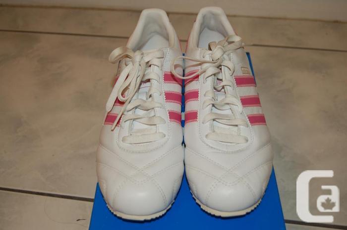 huge discount 0d2e6 fed08 Rosa Stripes Running 5 För Storlek Adidas New 9 Vit Brand Shoes gSEzq8Cnxw