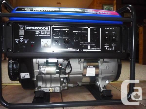 Brand new in box yamaha generator for sale in nanaimo for Yamaha generator canada