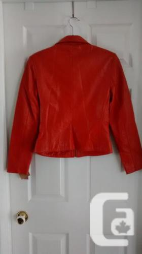 Brand New - Ladies Gorgeous Orange Leather Jacket -