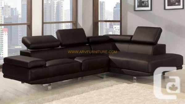 Brand New Leather 6 Pc Sectional Set