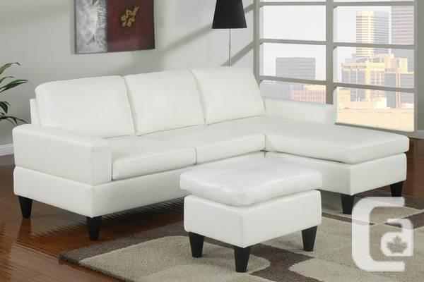 BRAND NEW, Leather Sectional Sofa, FREE Ottoman + FREE
