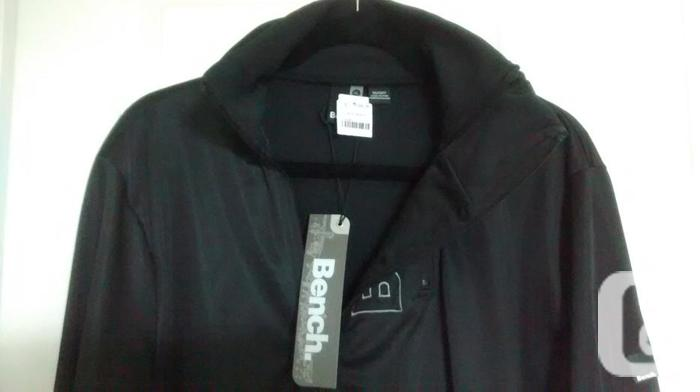 Brand New - Men's Black BENCH Zip Up Sweater - Size