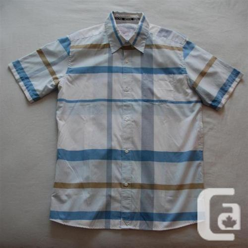 Brand New Quiksilver Button Up Plaid Shirt, Size Large