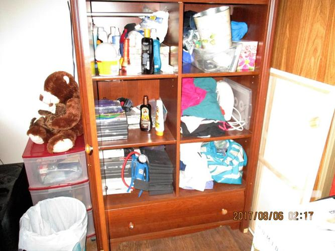 BROWN ARMOIRE/DRESSER