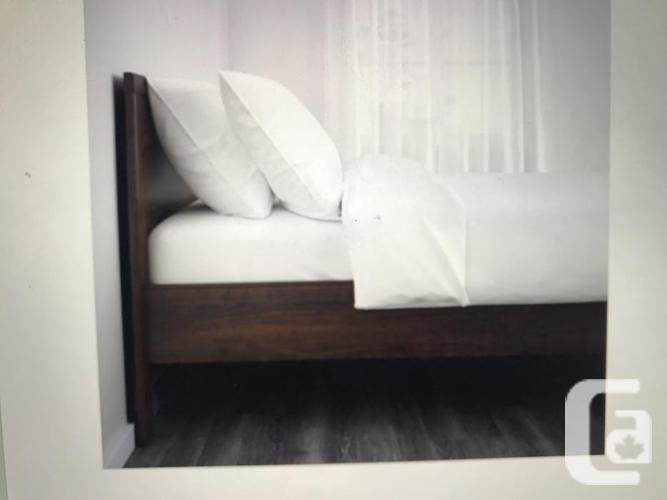 BRUSALI FULL SIZED BED WITH FIRM MODEGAL MATTRESS