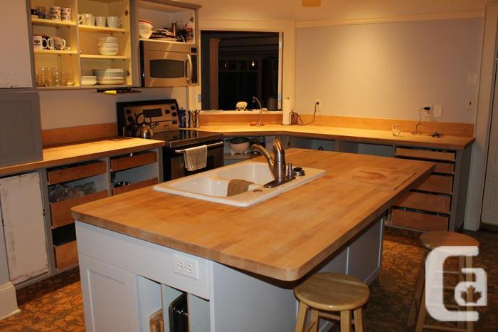 Butcher Block Countertops, Sink +Facet for sale in Sidney, British Columbia Classifieds ...