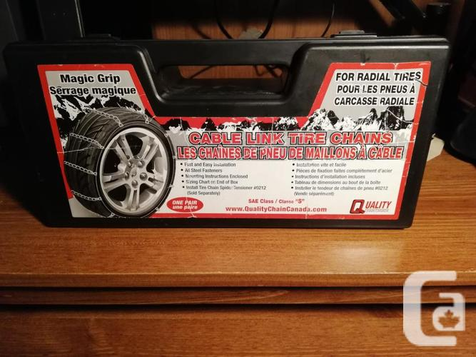 """Cable Link Tire Chains """"Majic Grip"""""""