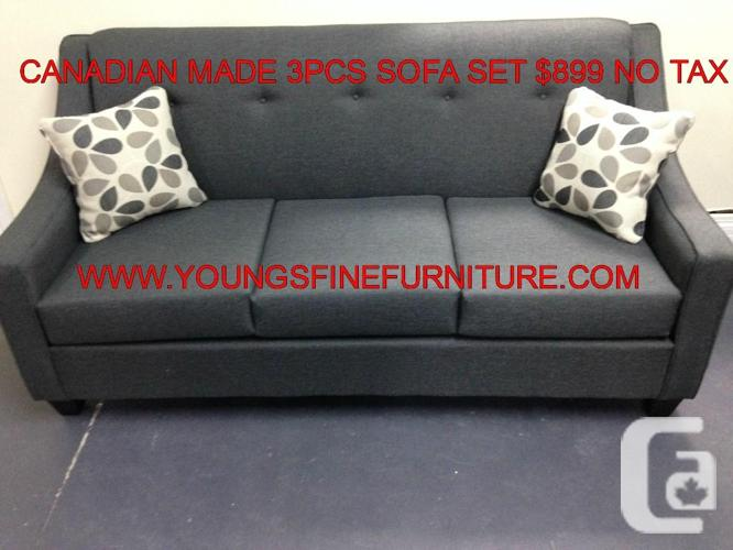 CANADIAN MADE 3PC SOFA SET ONLY 899 NO TAX, Ontario