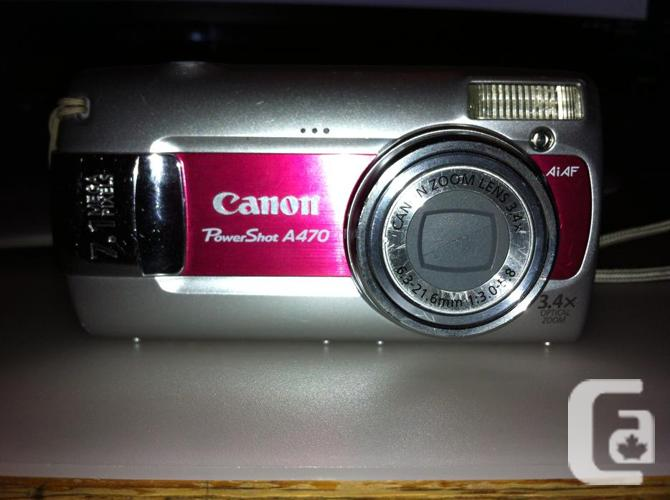 Canon A470 7.1 MP camera. 2GB card