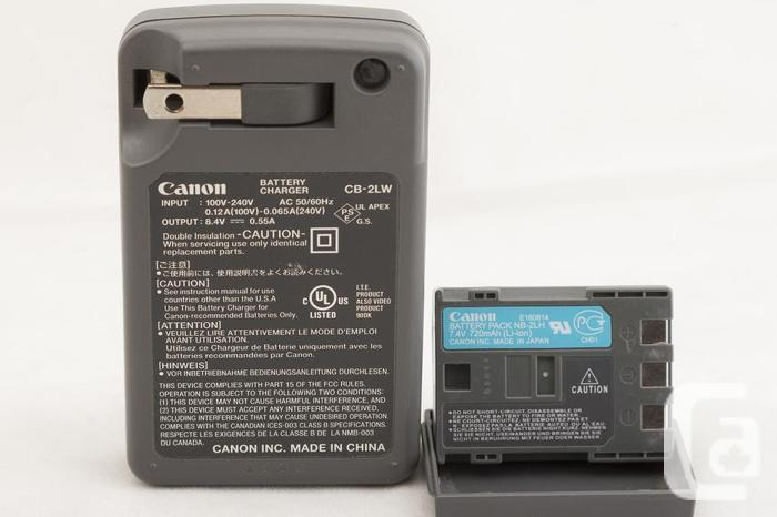 CANON NB-2LH Battery and CANON CB-2LW Charger