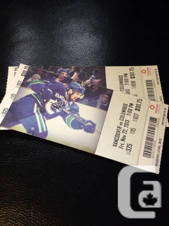 Canucks vs Columbus - $200