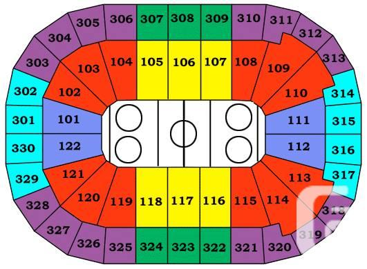 Canucks vs Devils - First Row - On Sec 329 GREAT SEATS!