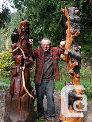 Carved Comedy Golfer