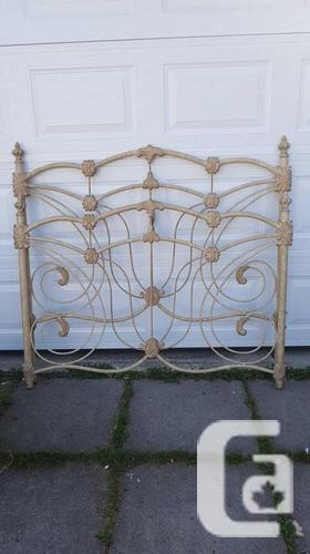 Cast Iron Foot and Head Board Needs some TLC. Uses