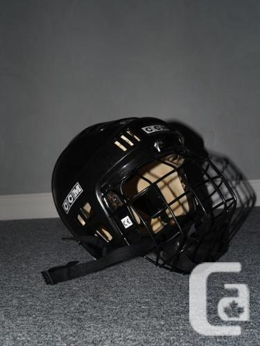 CCM hockey helmet with crate