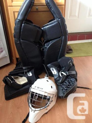CCM Pro Return Retroflex Goalie Pads and Gloves in Sooke, British Columbia  for sale