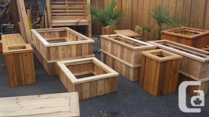 Cedar Raised Garden Beds And Planter Boxes For Sale In Nanaimo