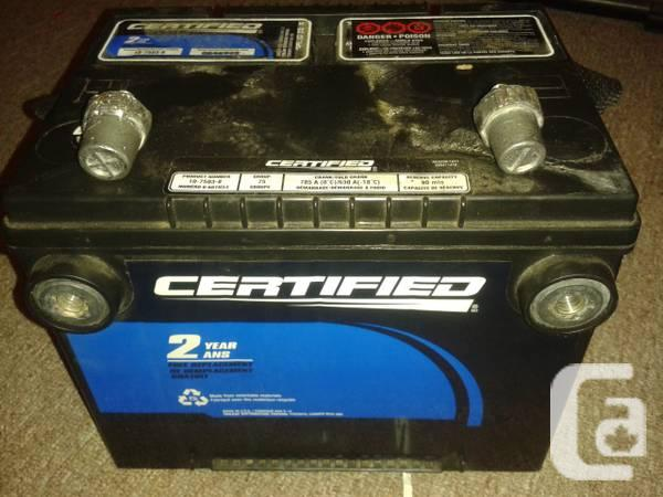 Certified Car Battery - $40