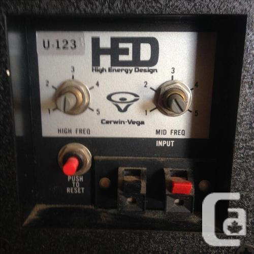 Cerwin vega HED speakers