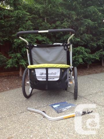chariot double cougar 2 stroller for sale in comox. Black Bedroom Furniture Sets. Home Design Ideas