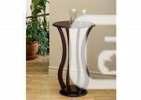 Cherry Veneer Accent Table - $80