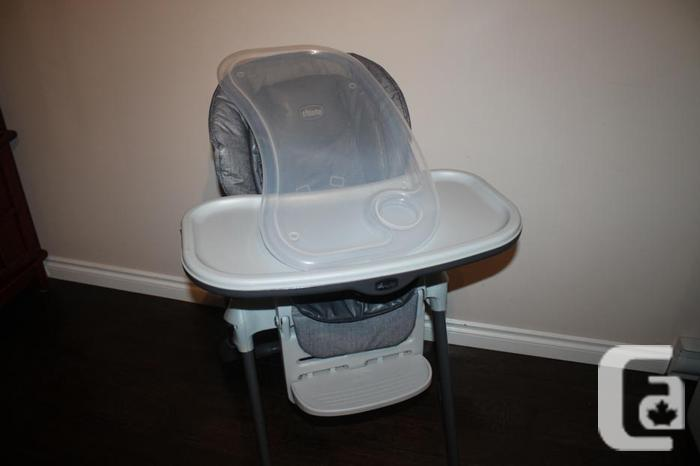 Chicco Polly High Chair Sedona Grey Tones-EUC